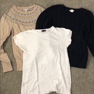 Lot of two sweaters and white  t shirt